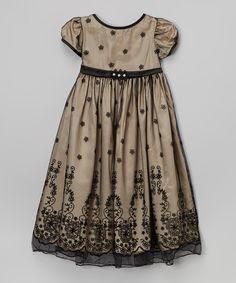 Look at this #zulilyfind! Kid's Dream Taupe Lace-Overlay Dress - Toddler & Girls by Kid's Dream #zulilyfinds