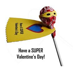 Make your own Valentine's Day Gifts Super Hero Valentine via @ZakkaLife