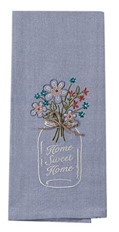 Best Kitchen Curtains | Kay Dee Designs F0747 Home Sweet Home Mason Jar Embroidered Tea Towel >>> Learn more by visiting the image link. Note:It is Affiliate Link to Amazon.