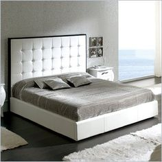 "Dupen Penelope Storage Bed in White - This bed offers an elegant blend of traditional elements with modern simplicity of lines that produces a unique and rich flair perfect for any contemporary bedroom.  Features: The set oozes a luxurious Hollywood chic that you can bring and enjoy in your own private haven Bedroom set pieces shown from the Nelly collection Made in Spain  Specifications: Queen Bed Dimensions: 54""H x 65""W x 83""D; 300 lbs King Bed Dimensions: 54""H x 82""W x 83""D; 323 lbs"