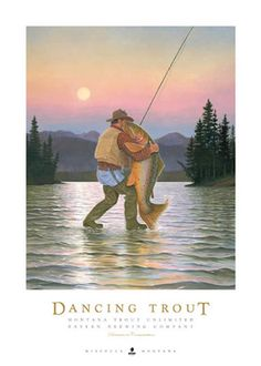 This piece was inspired by a painting that Monte did of some friends dancing at their wedding - he then substituted the fish for the bride the the fisherman for the groom. This is one of Monte's most                                                                                                                                                                                  More