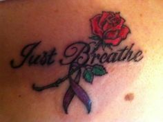 My back tattoo for cystic fibrosis awareness