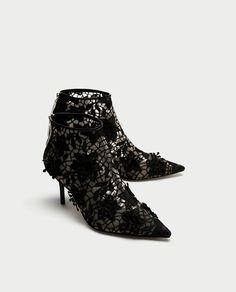 fbec37509710 ZARA - WOMAN - ДАНТЕЛЕНИ БОТИ С ТОК Leather Mules