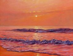 South Carolina Painting - The First Day-sunrise On The Beach by Bonnie Mason