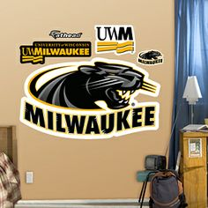 Visit Fathead.com for officially licensed Wisconsin - Milwaukee Panthers Logo wall graphics.