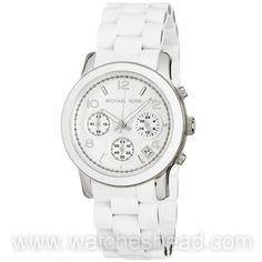 35415cf4d99 MK5423 Michael Kors White Polyurethane Chronograph Ladies Watch Price  142