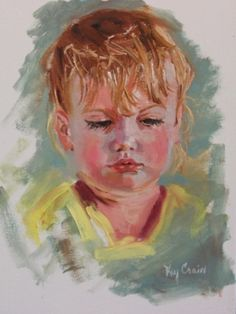 Portrait sketch of Anabelle, painting by artist Kay Crain