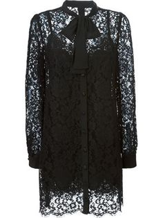 STYLE THE TREND | THECHICITALIAN | How I would style the pyjama and boudoir trend for Spring/Summer 2016 - Dolce & Gabbana lace shirt dress