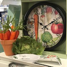 Vegetable Kingdom in its element! Enhance your display with additional items that pick on the pattern or feel of the collection. Store Displays, It Works, Decorative Plates, Farmhouse, Vegetables, Creative, Pattern, Collection, Instagram