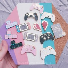 I love the pink PlayStation controller, Switch, and memory card! I love the pink PlayStation controller, Switch, and memory card! Bag Pins, Jacket Pins, Cool Pins, Metal Pins, Pin And Patches, Disney Pins, Disney Trading Pins, Pin Badges, Cool Stuff