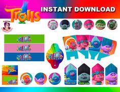 TROLLS kit de Fiesta en Inglés Descarga por SusanedaPrintables