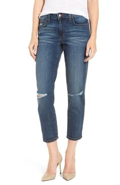 Joe's 'Billie' Ripped Crop Boyfriend Jeans (Terri) available at #Nordstrom