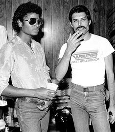 Anonymous said: Michael Jackson with Freddie Mercury. Answer: I don't have a lot of rare but good quality pictures of MJ with Freddie Mercury together… I hope it's okay anyway…. Die Queen, Queen Queen, Queen Band, Rock Poster, Sammy Davis Jr, Queen Freddie Mercury, Louis Armstrong, The Jacksons, Music Icon