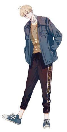 (notitle),Boys Love - My Manga Handsome Anime Guys, Cute Anime Guys, Anime Boys, Anime Art Girl, Anime Boy Zeichnung, Korean Anime, Boy Illustration, 5 Anime, Anime Poses Reference