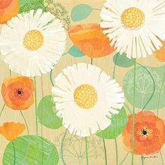 Daisies and Poppies II Kunstdrucke von Susy Pilgrim Waters bei AllPosters.de