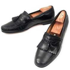 Johnston & Murphy Loafers Shoes Tassle Mens Black Slip On Kiltie 12 M Dress  #JohnstonMurphy #LoafersSlipOns #MensShoes #SomeLikeItUsed