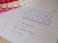 Haken en meer: Dekentje haken Really clever stitch using different color as little accent rows.