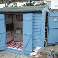 smart blue shed