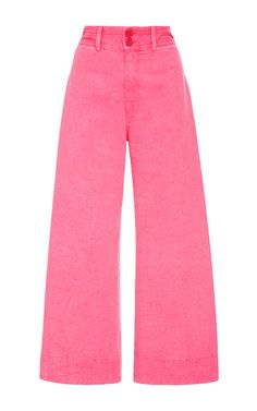 APIECE APART Zinc Pink Cropped Pants. #apieceapart #cloth #pants