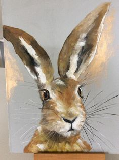Contemporary, modern , realistic oil painting of a spring hare. Bunny Painting, Spring Painting, Oil Painting On Canvas, Wildlife Paintings, Animal Paintings, Realistic Oil Painting, Pictures To Paint, Felt Pictures, Bunny Art