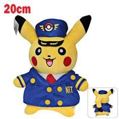 Captain Pikachu Plush Pokemon Cartoon Toy Doll