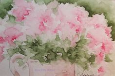 watercolor painting | Pink Floral Watercolor Painting