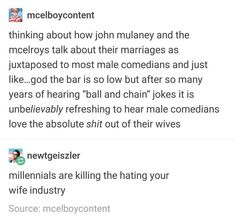 Tumblr Funny, Funny Memes, Hilarious, Jokes, Tumblr Stuff, Tumblr Posts, Mcelroy Brothers, John Mulaney, The Adventure Zone