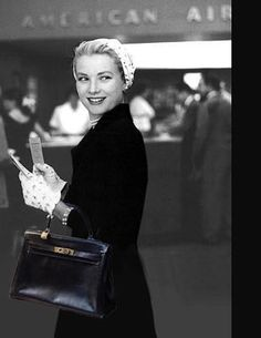 Grace and her Hermes Kelly bag, 1950s