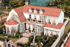 Sims 4 House Plans, Sims 4 House Building, Minecraft Farm, Minecraft Houses, I Capture The Castle, Sims 4 House Design, Casas The Sims 4, Sims 4 Build, Sims 4 Houses