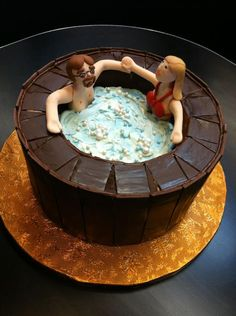 1000 Images About Hot Tub Cakes On Pinterest Hot Tubs