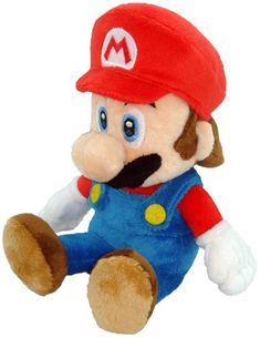 Little Buddy Toys Nintendo Official Super Mario Plush, - The adorable plumber/protector you'll love to hug! The legendary mascot of Nintendo! This official Super Mario Plush Doll showcases your hero in a soft, tall format. Mario Wii, Mario And Luigi, Mario Toys, New Super Mario Bros, Super Mario Brothers, Mario Plush, Japanese Imports, Soft Dolls, Plush Dolls