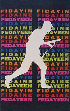 OSPAAAL posters: 1968 - Fedayeen by Lazaro Abreu