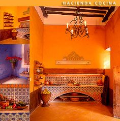 Hacienda Architecture, Mexican Colonial Hacienda, Spanish Colonial Tables and Chairs, Mexican Kitchens