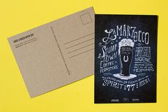 love these chipboard backed postcards by Print Pinball