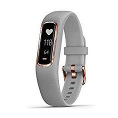 Garmin Vivosmart 4 Smart Fitness And Activity Tracker With Pulse Ox And Heart Rate Monitor Grey In Grey With Rose Gold - Grey Medium Smart Fitness Tracker, Fitness Activity Tracker, Fitness Activities, Garmin Vivosmart Hr, Stress, Heart Rate Monitor, Apple Watch Series, Sport Watches, Smart Watch