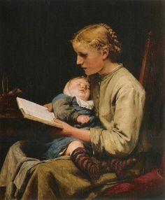 ALBERT ANKER (1831-1910), LA LETTRICE