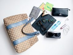 What are in girl's bag
