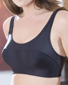 275ab595bf Review of the Elila 1620 Silver and Microfiber Sports Bra. Plus Size Sports  Bras