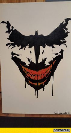 Funny pictures about Batman Painting. Oh, and cool pics about Batman Painting. Also, Batman Painting photos. Joker Batman, Joker Art, Batman Art, Batman Poster, Joker Comic, Gotham Batman, Batman Robin, Joker Kunst, Batman Kunst