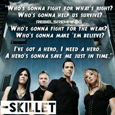 Skillet-Hero lyrics