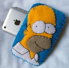 Homer Simpson iPhone iPod Case by SarahandLuiza, via Flickr