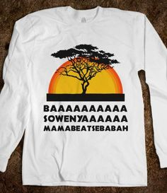 Lion King (long sleeve) - Fun, Funny, & Popular - Skreened T-shirts, Organic Shirts, Hoodies, Kids Tees, Baby One-Pieces and Tote Bags