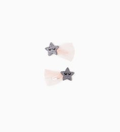 2-PACK OF STAR TULLE HAIR CLIPS