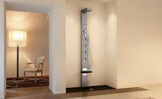 Columna de ducha de diseño con hidromasaje  Soul 1 cromolight de Elysium