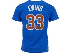 New York Knicks Patrick Ewing Majestic NBA Hardwood Classics Triblend Player  T-Shirt 2b11ce99d