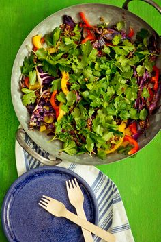 Recipe: Roasted Red Cabbage and Rainbow Pepper Slaw — Recipes from The Kitchn