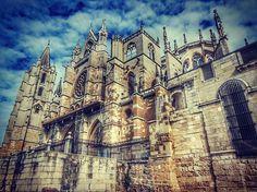 Catedral de #Leon (#España). http://www.europeosviajeros.com