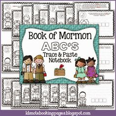 LDS Notebooking: Book of Mormon ABC's Trace and Paste Notebook