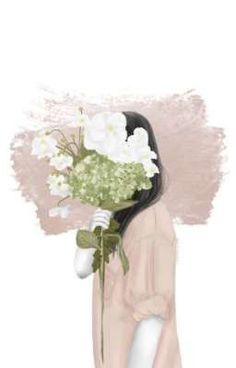 New Wall Paper Watercolor Pictures Ideas Art And Illustration, Illustration Mignonne, Watercolor Illustration, Watercolor Pictures, Watercolor Flowers, Watercolor Art, Drawing Flowers, Art Anime Fille, Anime Art Girl