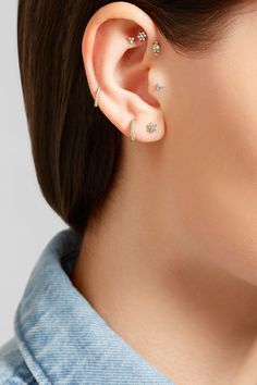 Post fastening for pierced ears  This piece has been certified in accordance…